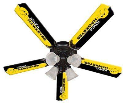 """New Ncaa Iowa Hawkeyes 52"""" Ceiling Fan"""