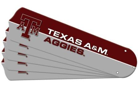 """New Ncaa Texas A&m Aggies 42"""" Ceiling Fan Blade Set"""