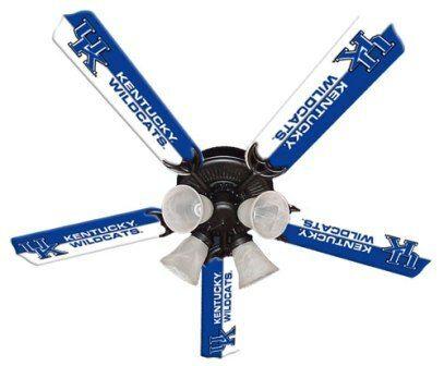 """New Ncaa Kentucky Wildcats 52"""" Ceiling Fan"""