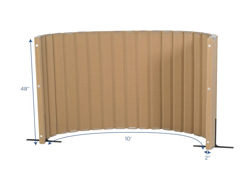 Quiet Divider® With Sound Sponge® 48″ X 10′ Wall – Natural Tan
