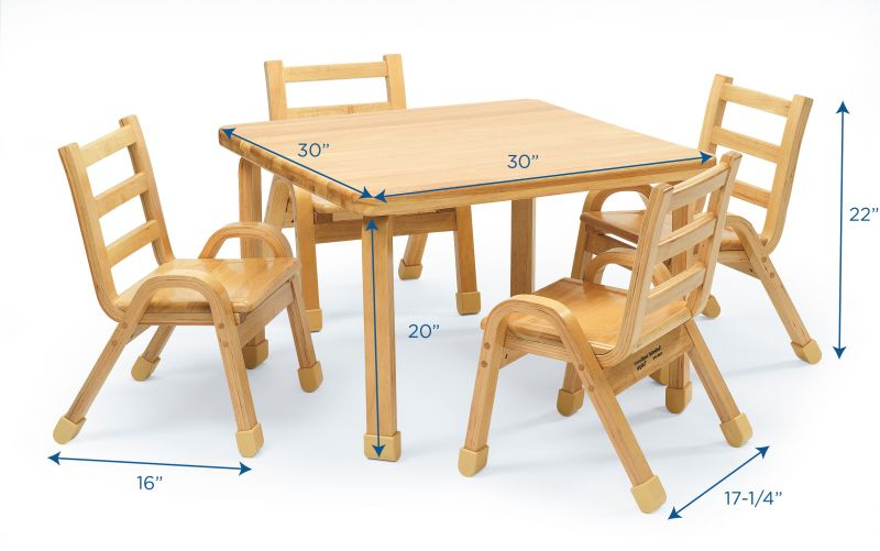 Naturalwood™ Collection Preschool Square Table & Chair Set