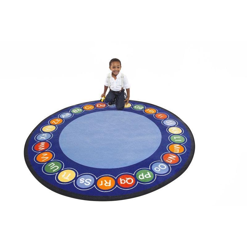 Abc Rotary Educational Rug – Round Large