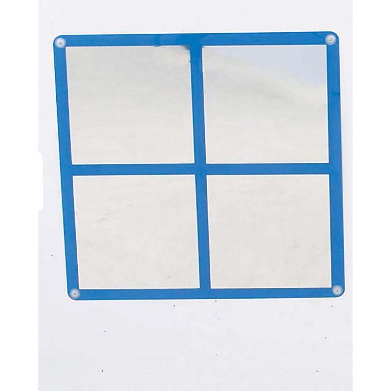 Square Windowpane Mirror