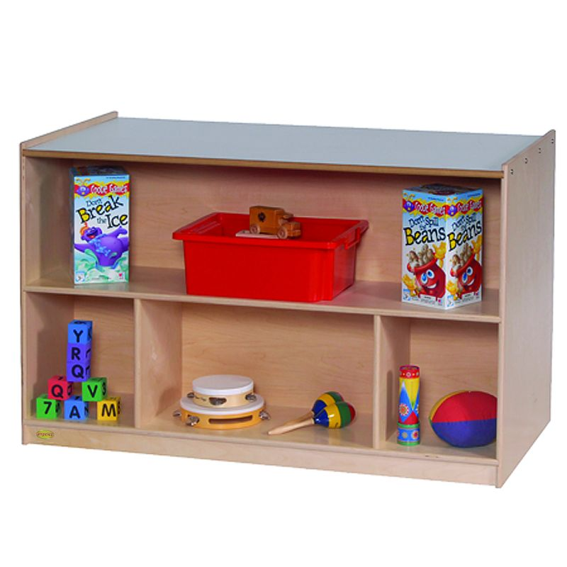 Double-Sided Storage With Multi-Colored Trays
