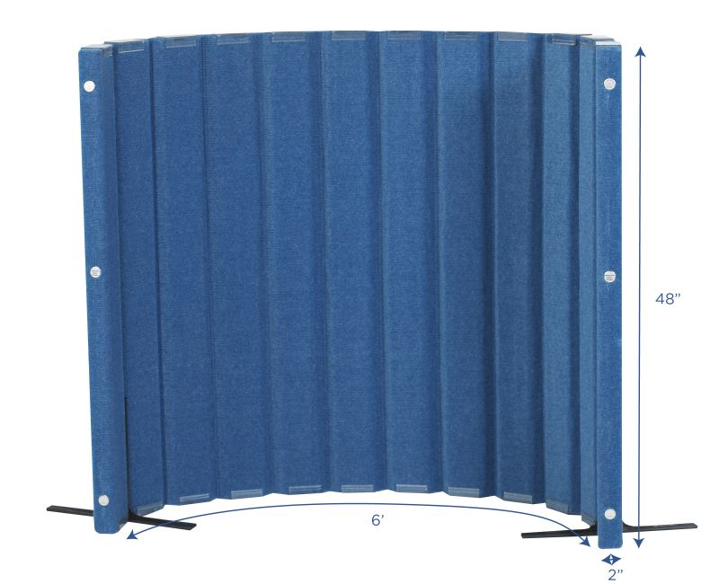 Quiet Divider® With Sound Sponge® 48″ X 6′ Wall – Blueberry