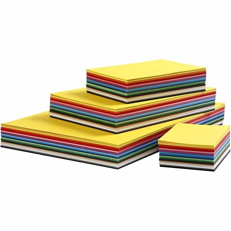 Colortime Creative Card, Assorted Colours, A2,a3,a4,a5,a6, 180 G, 1800 Ass Sheets