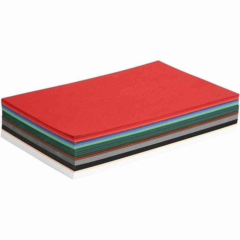 Colortime Christmas Card, Assorted Colours, A4, 210x297 Mm, 180 G, 300 Ass Sheets