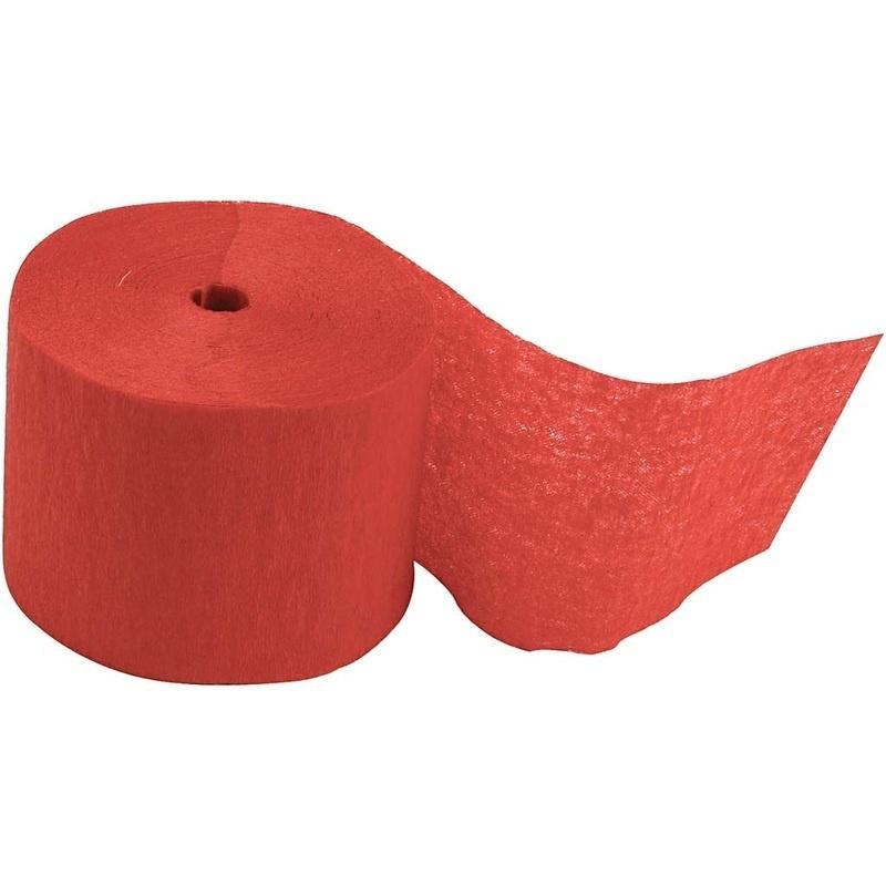 Creativ Company Crepe Paper Streamers, Red, L: 20 M, W: 5 Cm, 20 Roll