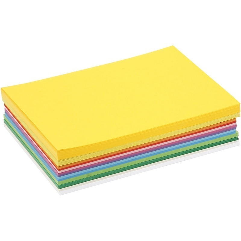 Colortime Happy Card, Assorted Colours, A5, 148x210 Mm, 180 G, 300 Ass Sheets