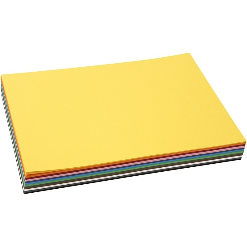 Colortime Coloured Card, Assorted Colours, A4, 210x297 Mm, 180 G, 10 Sheet, 12 Colour