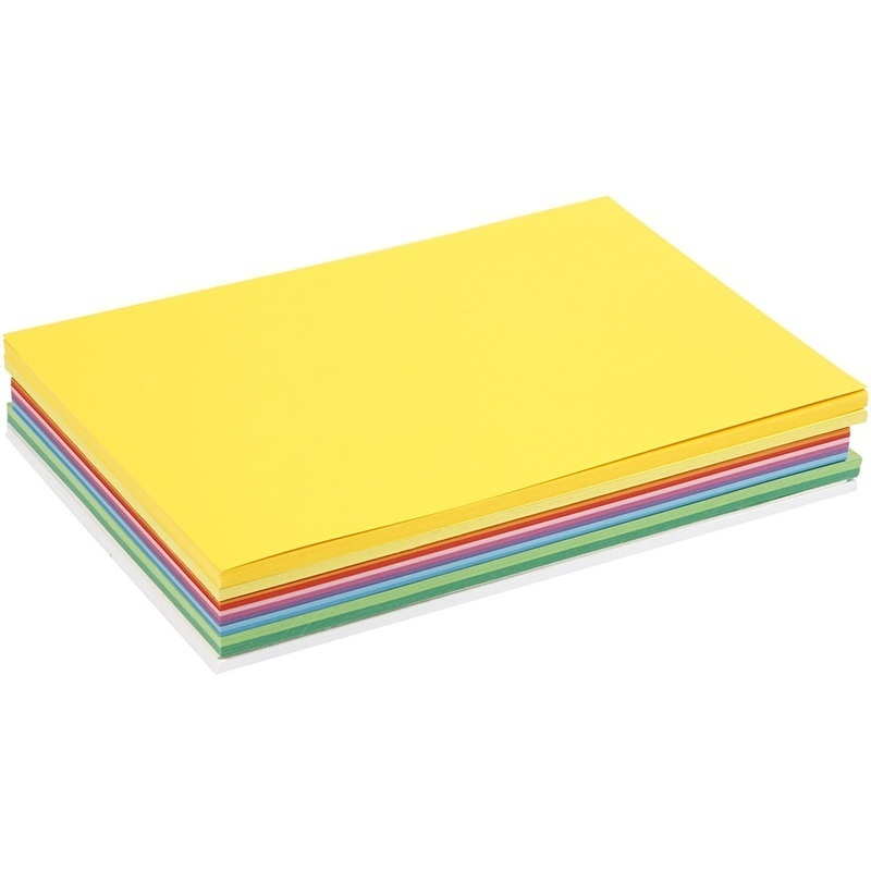 Colortime Happy Card, Assorted Colours, A4, 210x297 Mm, 180 G, 300 Ass Sheets