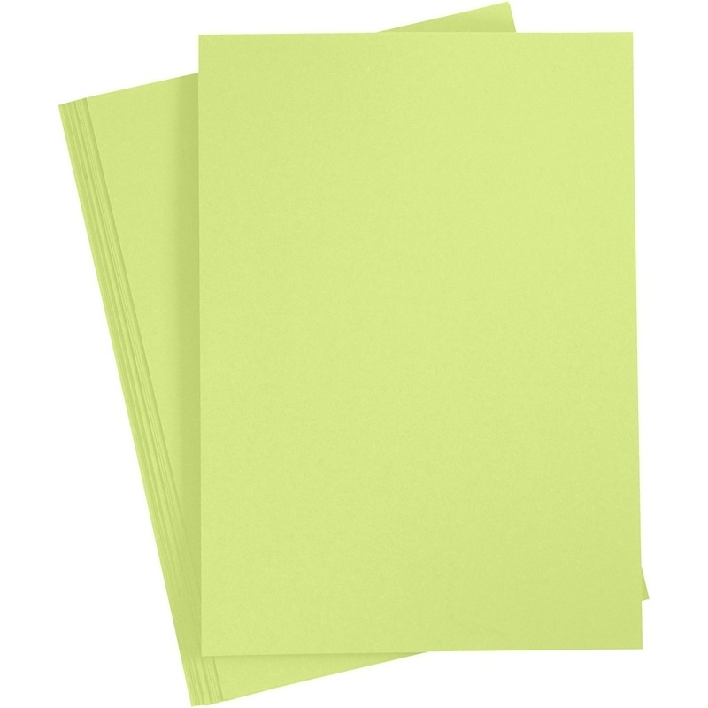 Paper Concept Card, Lime Green, A4, 210x297 Mm, 180 G, 20 Sheet, 1 Pack