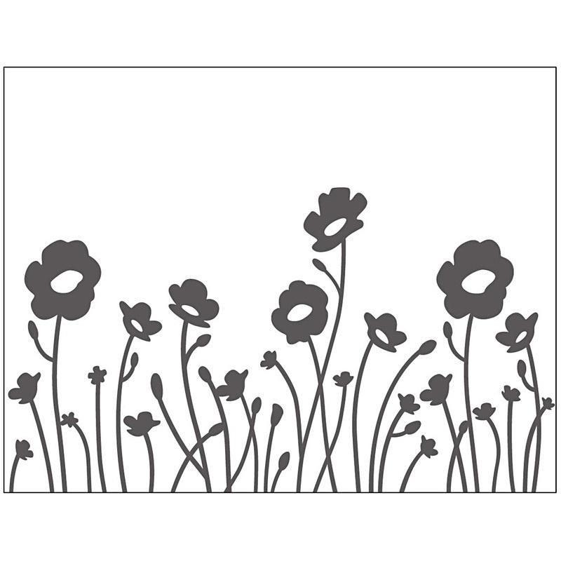 Creativ Company Embossing Folder, Flowers, 11x14 Cm, 2 Mm, 1 Pc