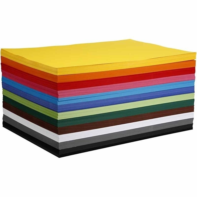 Colortime Coloured Card, Assorted Colours, A2, 420x600 Mm, 180 G, 120 Ass Sheets