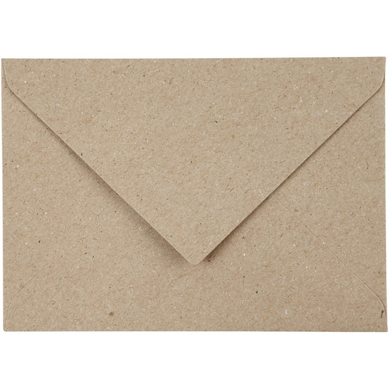 Creativ Company Recycled Envelopes, 11,5x16 Cm, 120 G, 50 Pc, 1 Pack