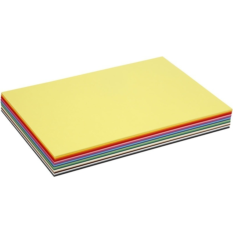 Colortime Creative Card, Assorted Colours, A3, 297x420 Mm, 180 G, 300 Ass Sheets