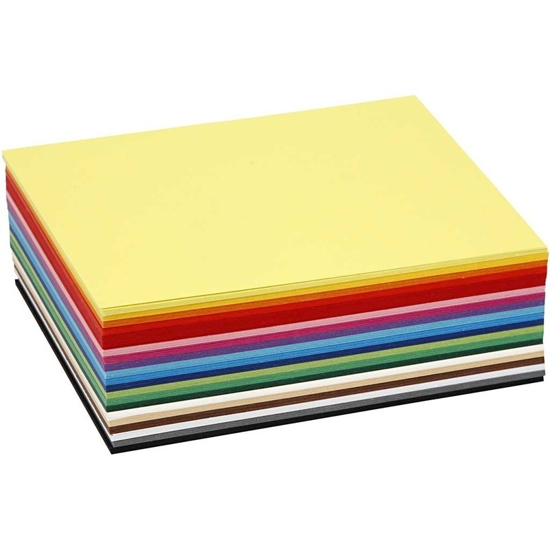 Colortime Creative Card, Assorted Colours, A6, 105x148 Mm, 180 G, 300 Ass Sheets