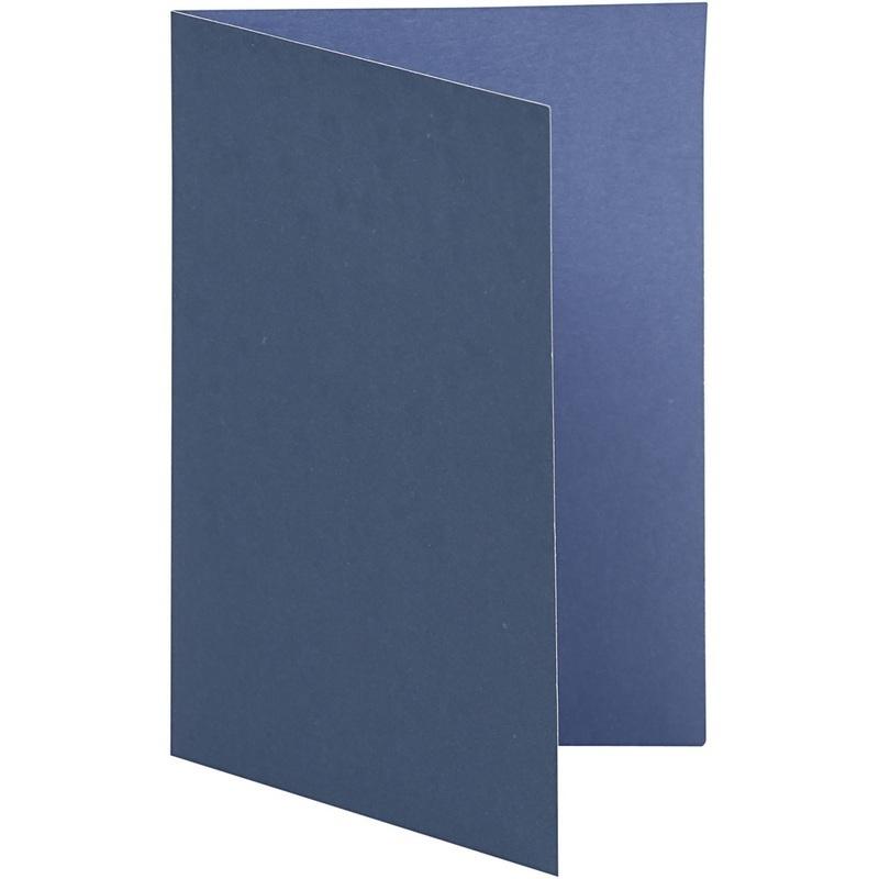 Happy Moments Cards, Dark Blue/light Blue, 10,5x15 Cm, 250 G, 10 Pc