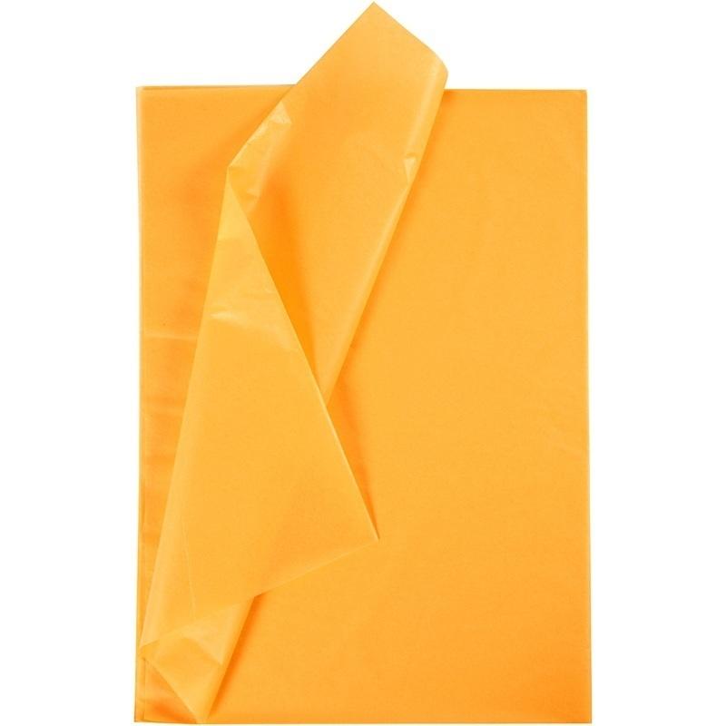 Creativ Company Tissue Paper, Yellow, 50x70 Cm, 17 G, 10 Sheet, 1 Pack
