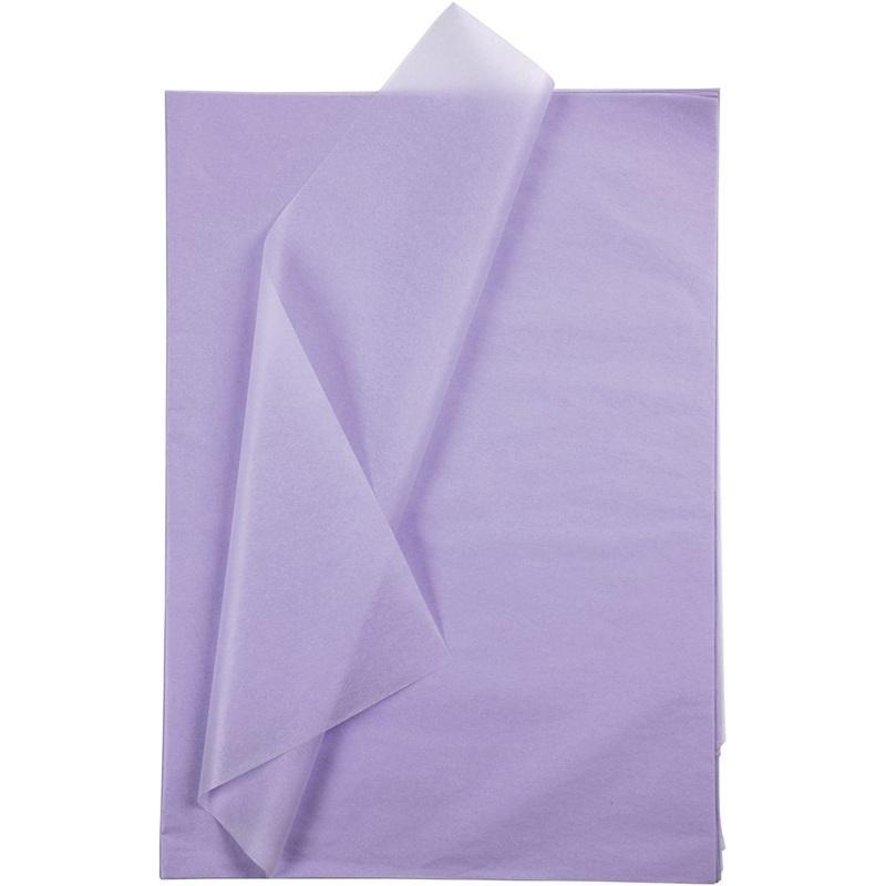 Creativ Company Tissue Paper, Light Lilac, 50x70 Cm, 14 G, 10 Sheet, 1 Pack