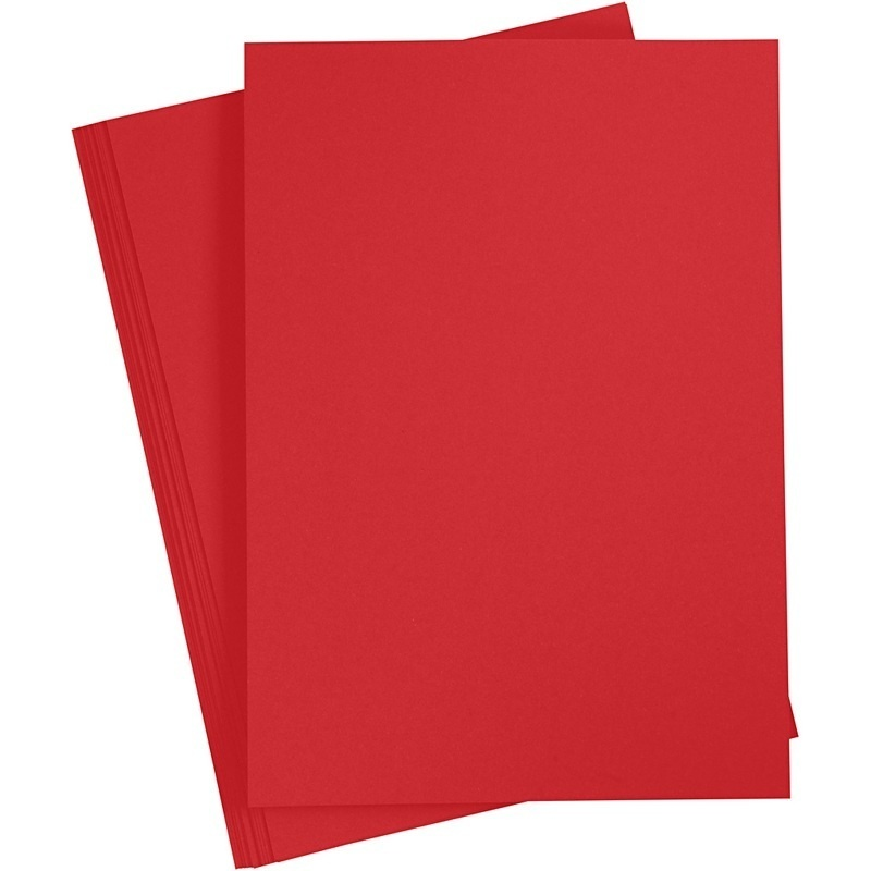 Paper Concept Card, Christmas Red, A4, 210x297 Mm, 180 G, 20 Sheet, 1 Pack