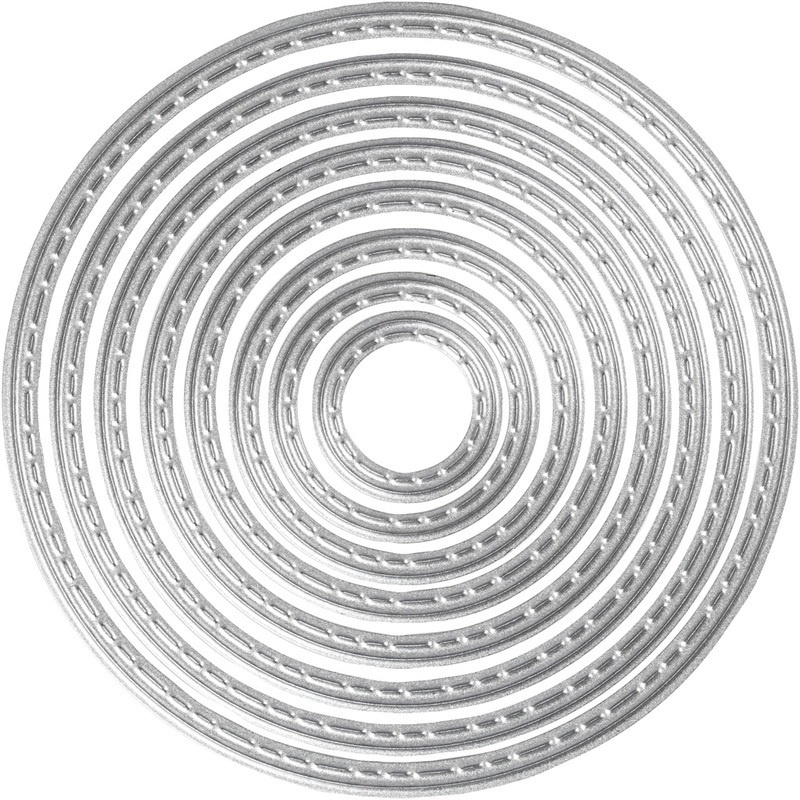Creativ Company Die Cut And Embossing Folder, Circle, 1,5-7 Cm, 1 Pc