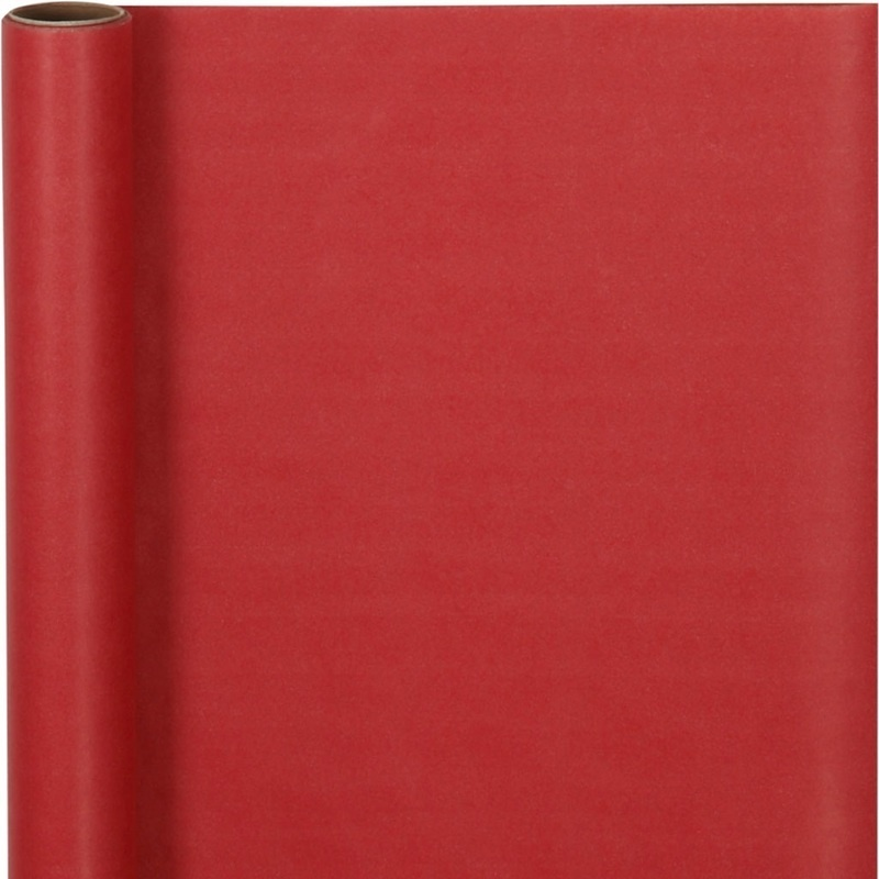 Creativ Company Wrapping Paper, Red, W: 50 Cm, 60 G, 5 M, 1 Roll