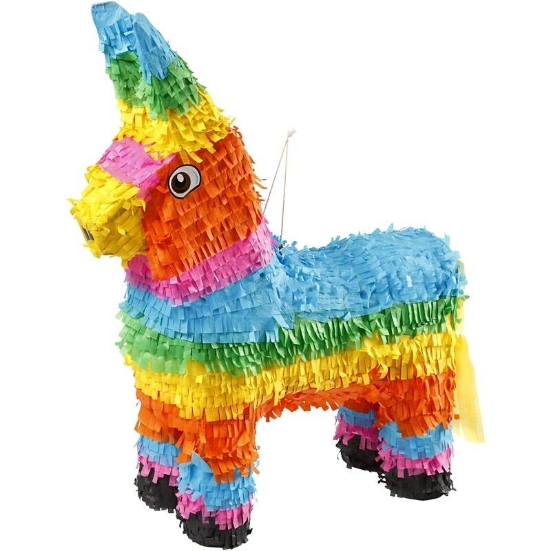Creativ Company Party Piñata, Bold Colours, 39x13x55 Cm, 1 Pc