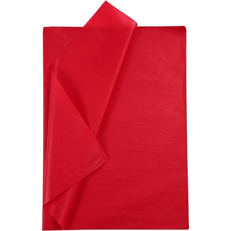 Creativ Company Tissue Paper, Red, 50x70 Cm, 14 G, 25 Sheet, 1 Pack