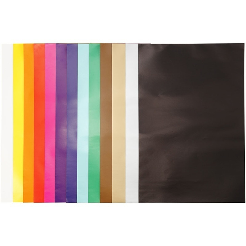 Creativ Company Glazed Paper, Assorted Colours, 32x48 Cm, 80 G, 100 Sheet, 1 Pack