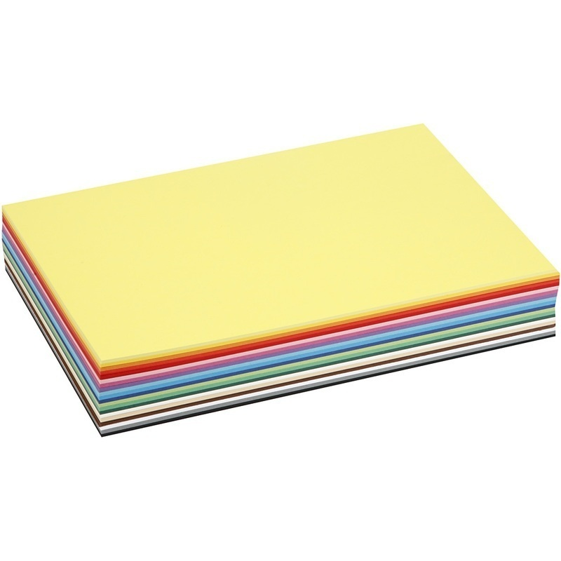 Colortime Creative Card, Assorted Colours, A4, 210x297 Mm, 180 G, 300 Ass Sheets