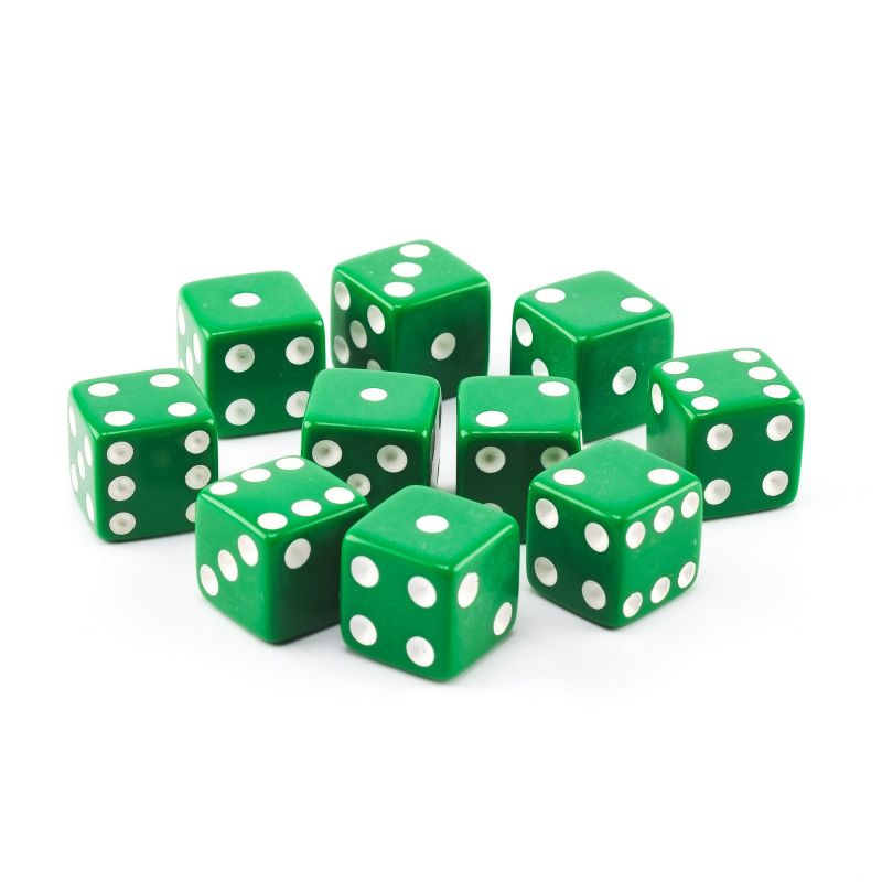 Economy Dice 5/8 Inch (16mm) - 10 Pack