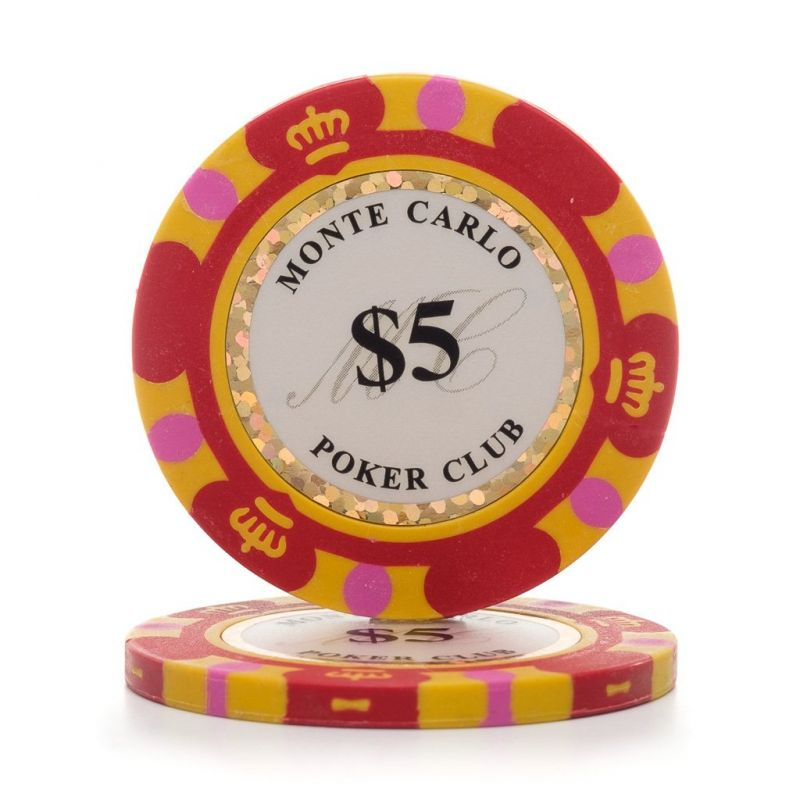 Monte Carlo 12.5g 3 Tone Holographic Poker Chips (25/pkg)