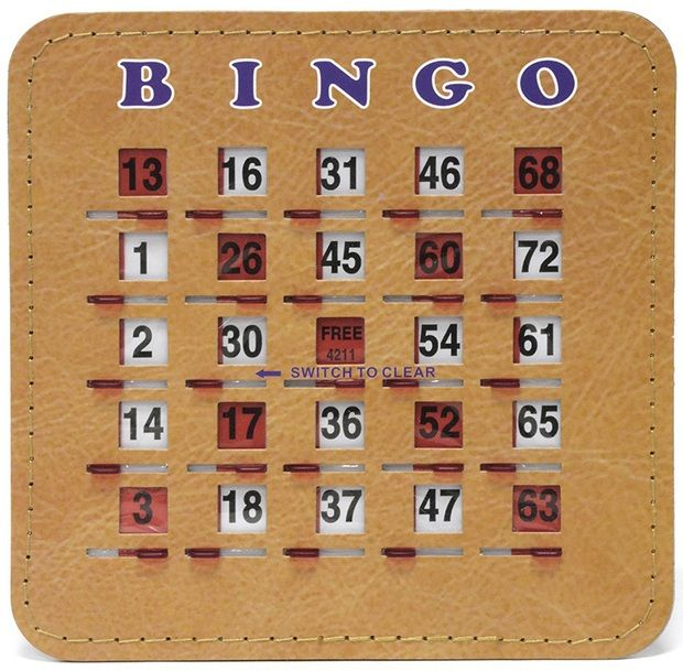 Senior Friendly Tabbed Quick Clear Stitched 5 Ply Bingo Shutter Slide Cards