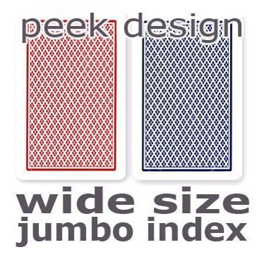 Copag Dual Index Red & Blue No Peek Wide - Jumbo Index Playing Cards