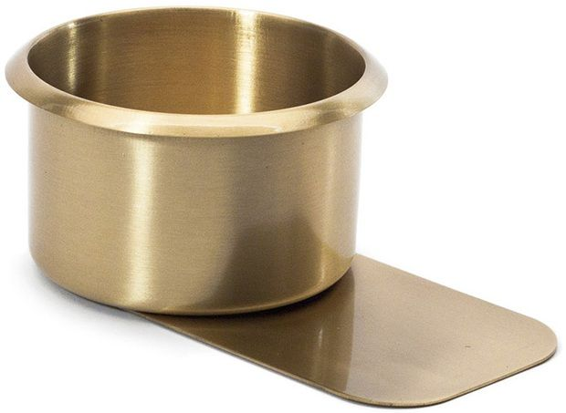 Brass Jumbo Slide Under Drink Holder