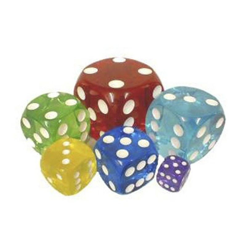 Acrylic Transparent Dice - 50 Mm / 2 Inch - Sold Individually
