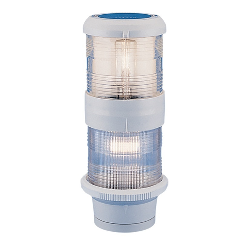 Aqua Signal Series 40 Masthead/anchor Deck Mount Combo Light - 24v - White Housing