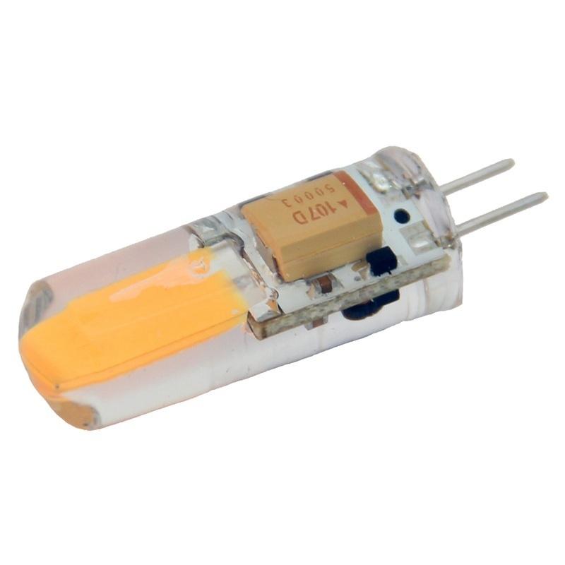 Lunasea Natural White G4 Bulb 2w 10-30vdc Bottom Pin Silicon Encapsulated