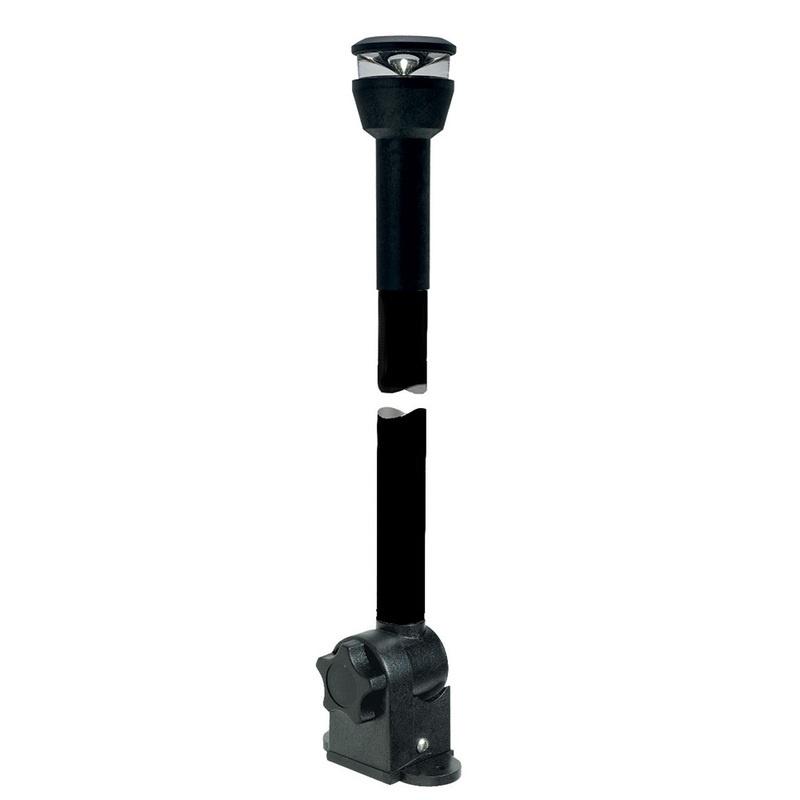 "Aqua Signal Series 30 All-round Black Fold-down Deck Mount Led Light W/21.5"" Mounting Arm - Black Housing"