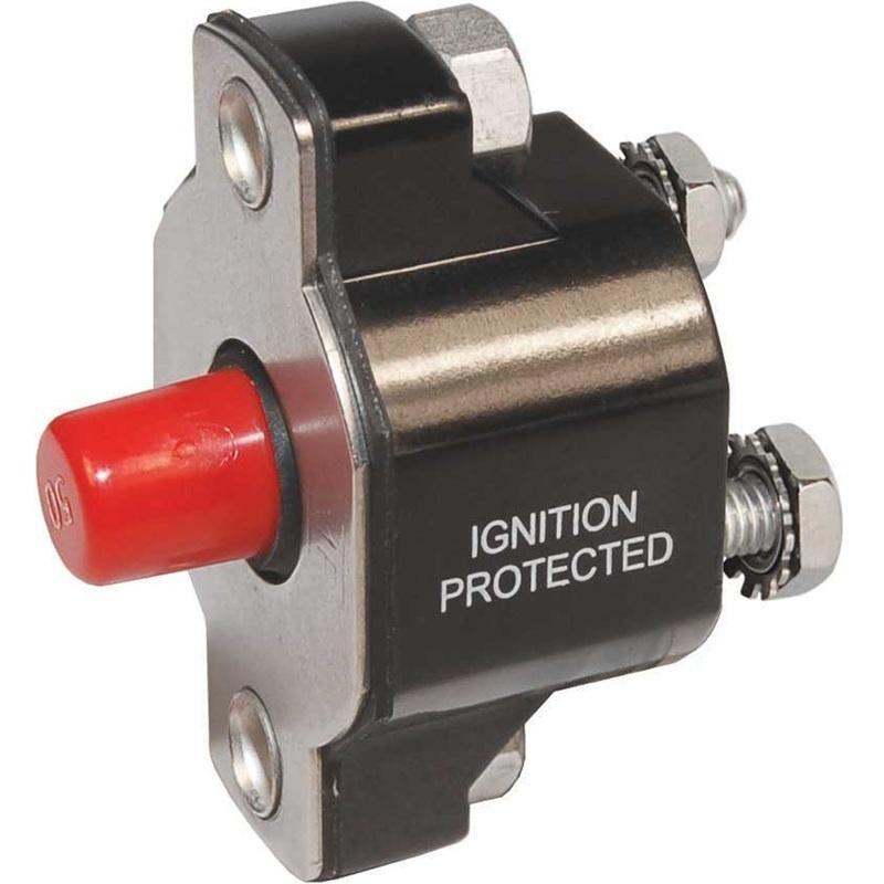 Blue Sea 2142 Medium Duty Push Button Reset-only - 50a