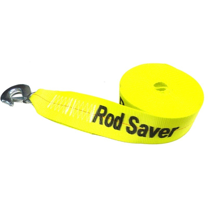 """Rod Saver Heavy-duty Winch Strap Replacement - Yellow - 3"""" X 20'"""
