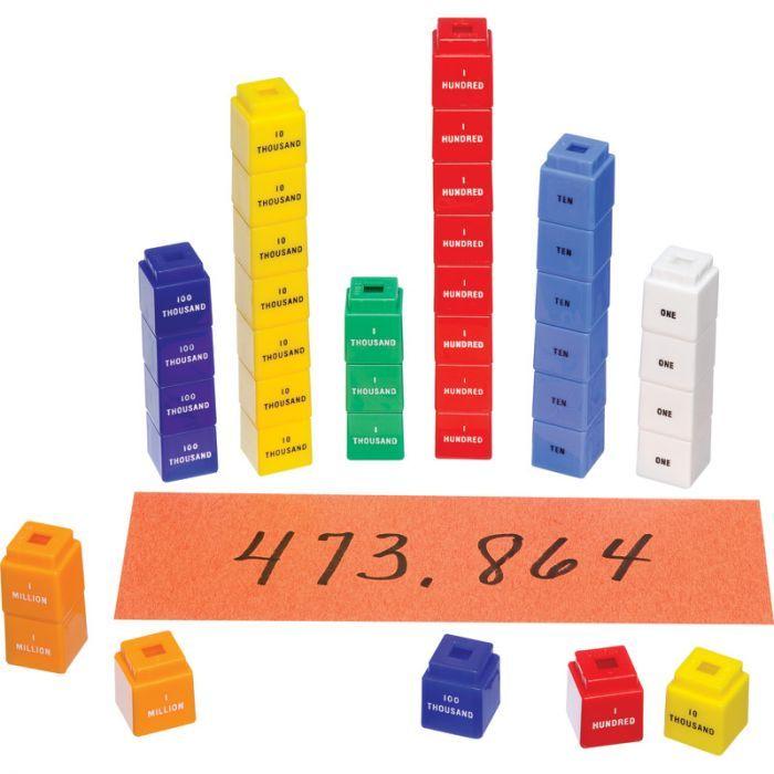 Unifix Cubes For Place Value To 1 Million