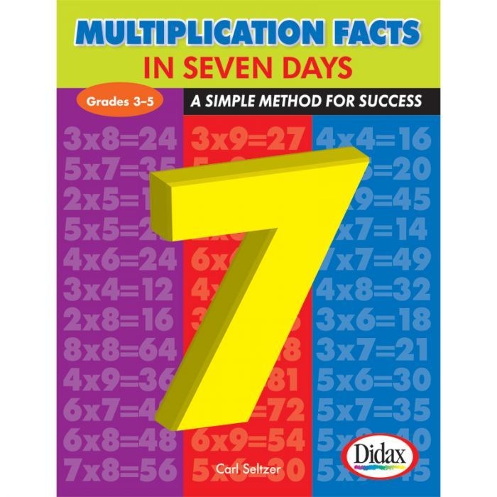 Multiplication Facts In 7 Day