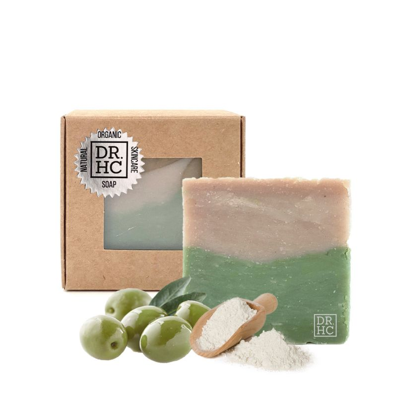 Dr.hc Olive Mineral Clay All-natural Skincare Face Soap (110g, 3.8oz) (anti-aging, Anti-acne, Detoxifying, Pore Minimizing...)