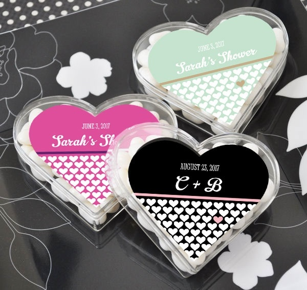"""""""clearly In Love"""" Heart Acrylic Favor Boxes"""