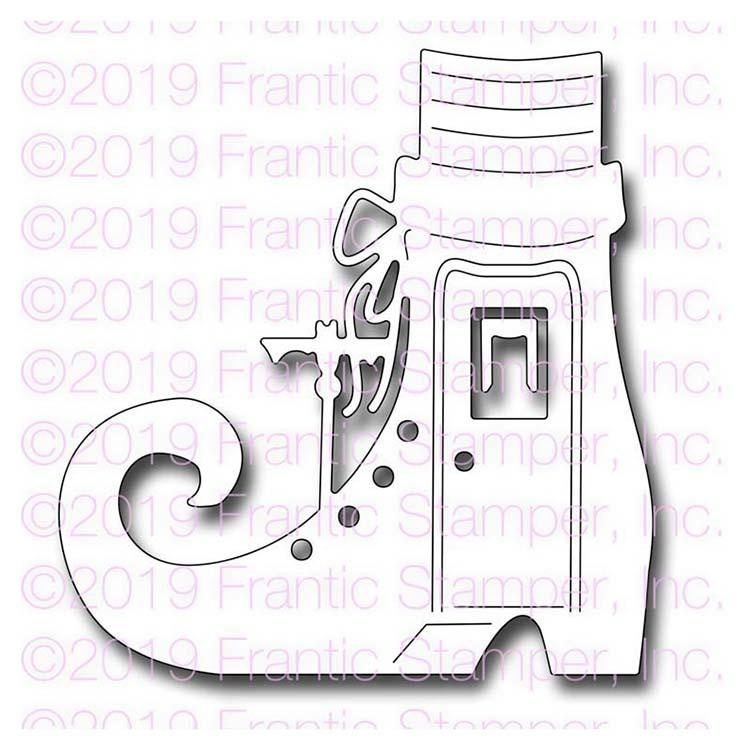 Frantic Stamper Precision Die - Old Witch Who Lived In A Shoe
