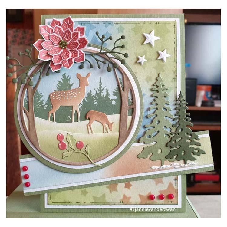 Nellie's Choice Layered Combi Dies Round Deer a
