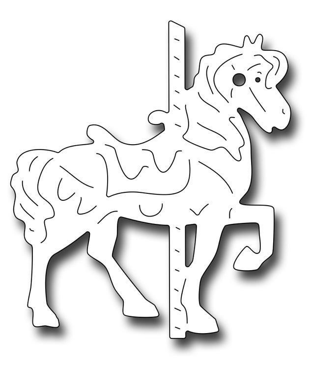 Frantic Stamper Precision Die - Small Carousel Horse