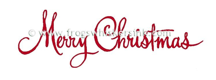 Frog's Whiskers Ink Stamps - Merry Christmas Fancy